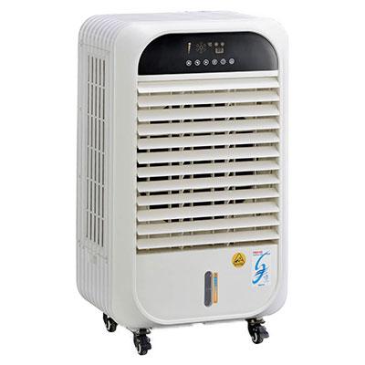 •水の気化熱による自然の冷風なので長時間使用しても体にやさしい冷風です。 •外気温より-6℃の冷却効果があります。(温度30℃ 湿度50%の場合) •エアコンのように排熱を出さないのでクリーンです。